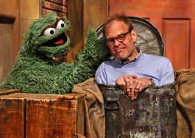 He looks a bit of a Grouch there, really.