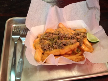 Don't think. Just order. Green chili cheese fries.