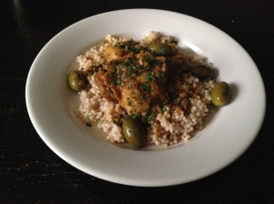 Braised Moroccan Chicken and Olives. Yum.